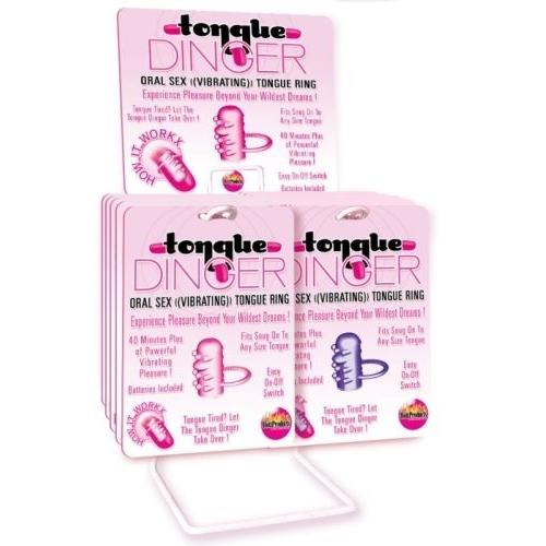 Tongue Dinger - 12 Piece Display - Purple/ Pink