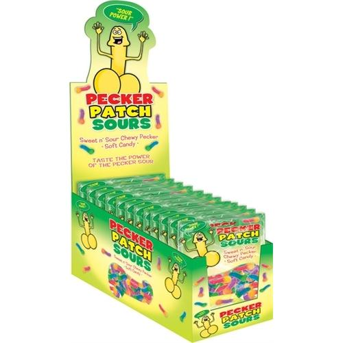 Pecker Patch Sour Gummies - 12 Piece Display