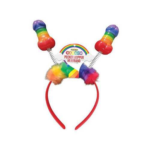 Rainbow Pecker Bopper Headband