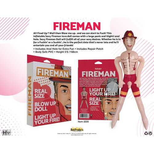 Fireman - Inflatable Party Doll