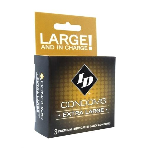 ID Extra Large Condoms - 3 Pack