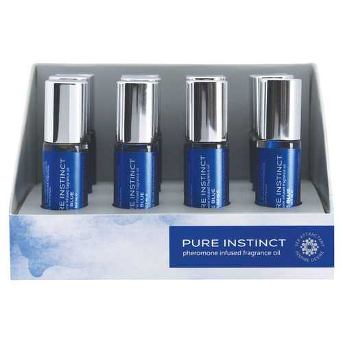 Pure Instinct Pheromone Fragrance Oil True Blue Roll on 12 Pc Display