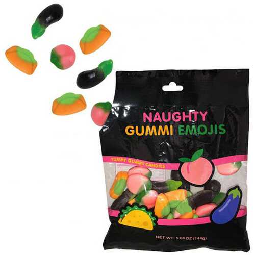 Naughty Emoji Gummies 5.08 Oz Bag 144g