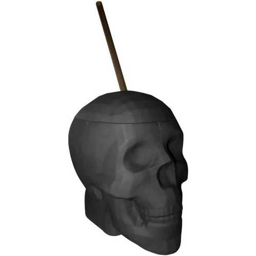Black Matte Skull Cup 22 Oz