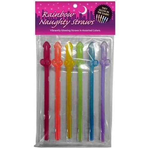 Rainbow Naughty Straws