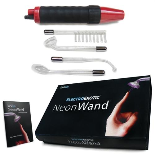 Neon Wand Electrosex Kit - Red and Black Handle  Red Electrode