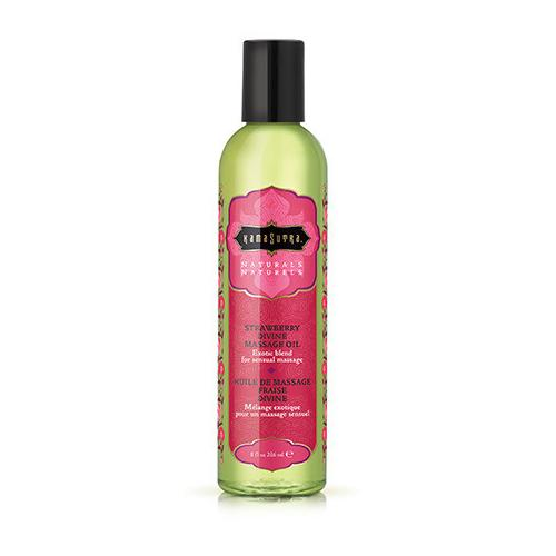 Naturals Massage Oil - Strawberry Divine 8 Fl Oz