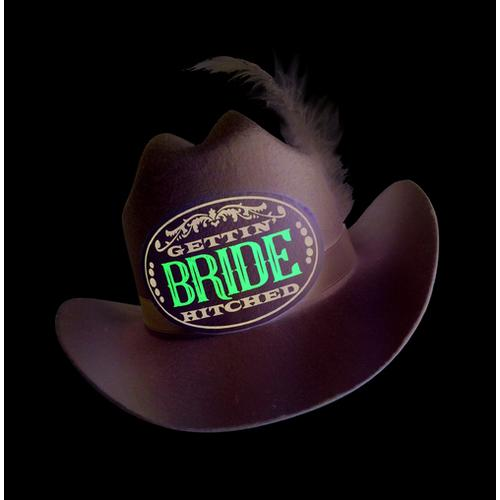 Gettin' Hitched Clip-on Cowgirl Bride Party Hat