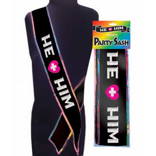 He Plus Him Sash