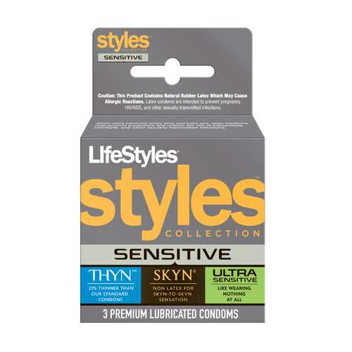 Lifestyles Styles Sensitive - 3 Pack