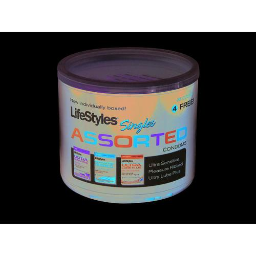 Lifestyles Assorted Singles - 40 Count Jar