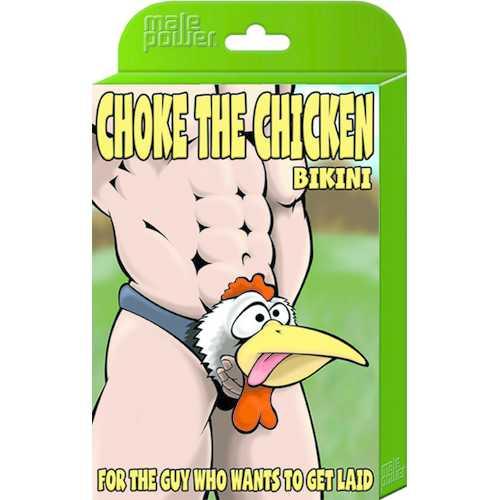Choke the Chicken Bikini - One Size - Black