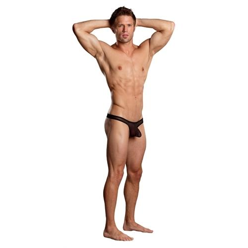 Euro Male Mini Pouch Thong - Small-Medium - Black