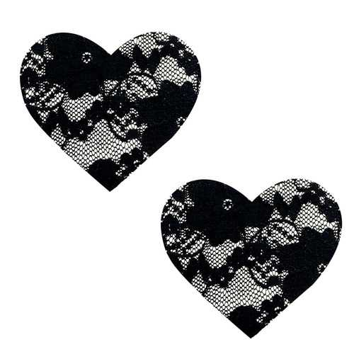 Vogue Black Lace I Heart U Nipztix Pasties