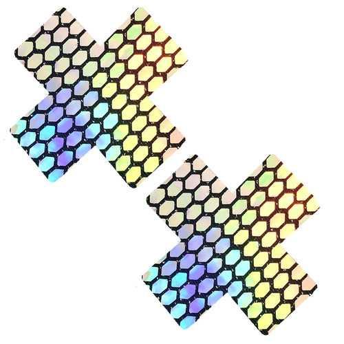 Mirrored Mayhem Super Holographic X Factor  Nipztix Pasties