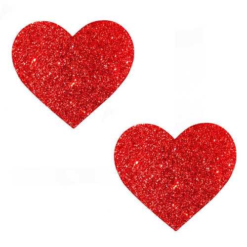 Ravish Me Red Glitter I Heart U Nipztix Pasties