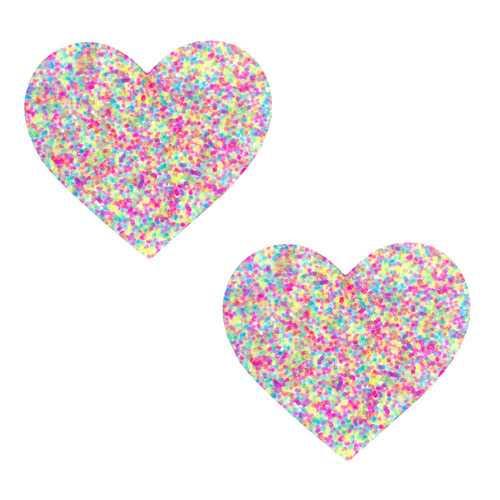 Sprankles Neon Blacklight Glitter I Heart U  Nipztix Pasties