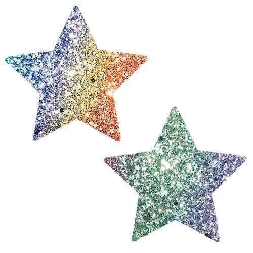 Super Sparkle Roc Kandi Chunky Rainbow Glitter  Starry Nights Nipztix Pasties