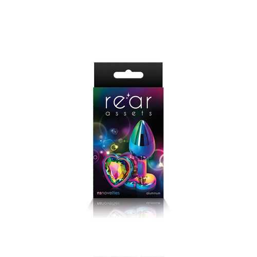 Rear Assets - Multicolor Heart - Small - Rainbow