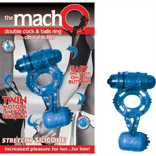 The Macho Double Blue - Cock and Balls