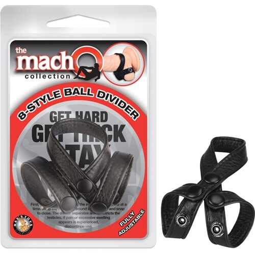 The Macho Collection 8-Style-Ball Divider - Black