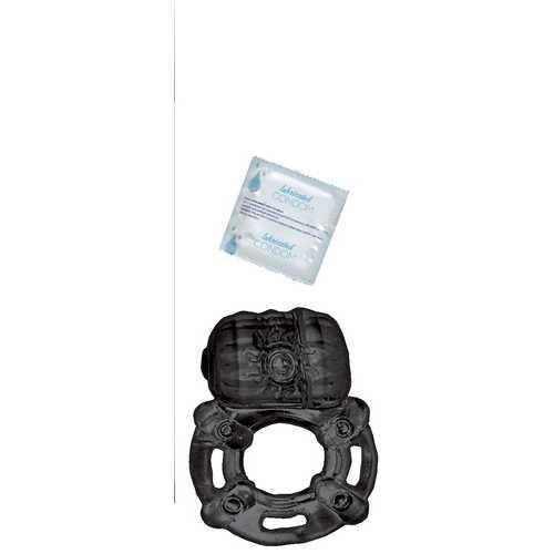 Vibrating Ring Black Pulsating Erection Keeper - Black