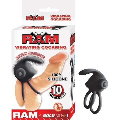Ram Vibrating Cockring - Black
