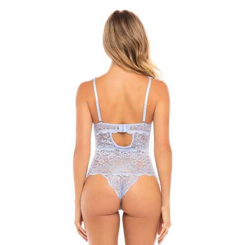 All Over Lace Teddy - Brunnera Blue - S/m