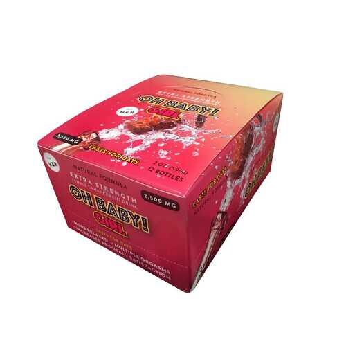 Oh Baby! Girl Extra Strength Female Sexual Enhancement 12pc Display Box 2oz 2500mg