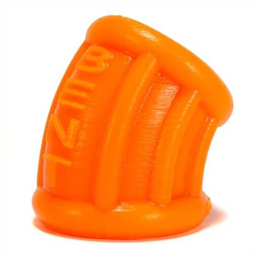 Bent 1 Ball Stretcher Curved Silicone  - Small - Orange
