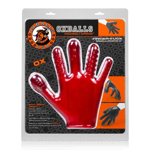 Finger- Fuck Reversible Jo & Penetration Toy - Red