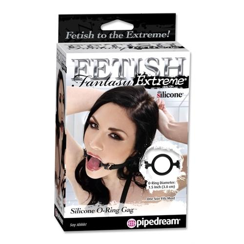 Fetish Fantasy Extreme Silicone  O Ring Gag - Black