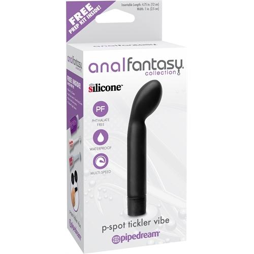 Anal Fantasy Collection P-Spot Tickler Vibe - Black