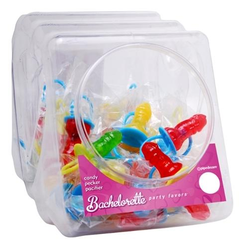 Bachelorette Party Favors Candy Pecker Pacifier 48 Pieces Display