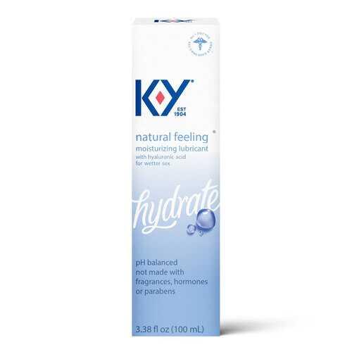 K-Y Natural Feeling Lube With Hyaluronic Acid -  3.38  Fl Oz / 100 ml
