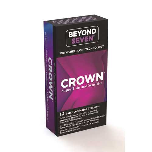 Crown 12 Pack  Latex Condoms