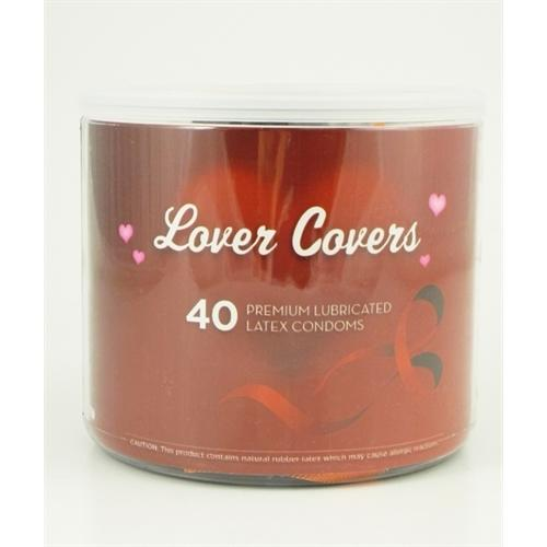 Lovers Covers Mix Condoms - 40 Count Jar