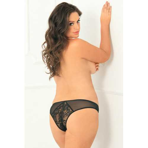 Miss Behavior Crotchless Panty - 3x4x - Black