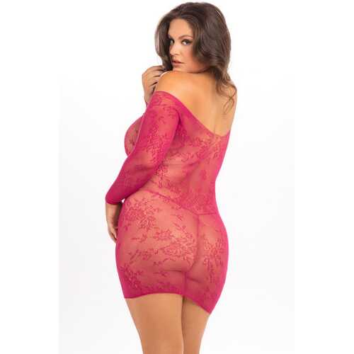 Open Season Off-Shoulder Mini Dress - Sangria - 3x4x