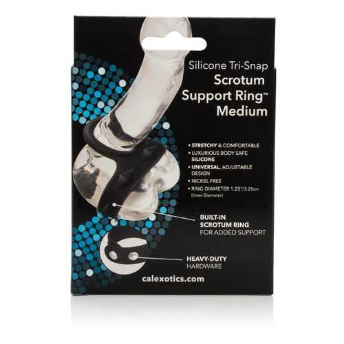 Silicone Tri-Snap Scrotum Support Ring - Medium