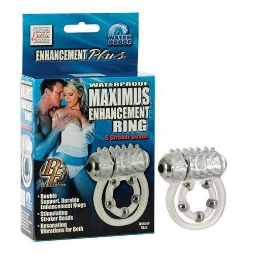 Maximus Enhancement Ring 5 Stroker Beads - Clear
