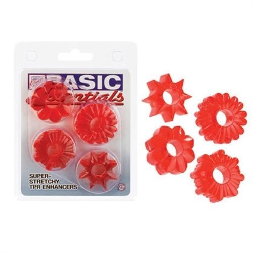 Basic Essentials 4 Pack - Red
