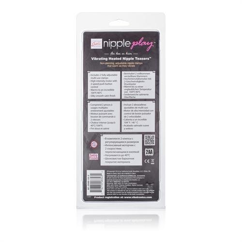 Vibrating Heated Nipple Teasers - Pink