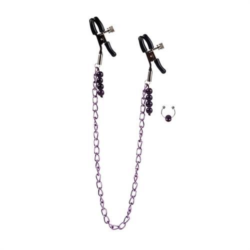 Purple Chain Nipple Clamps