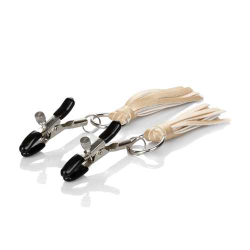 Nipple Play Playful Tassels Nipple Clamps - Gold