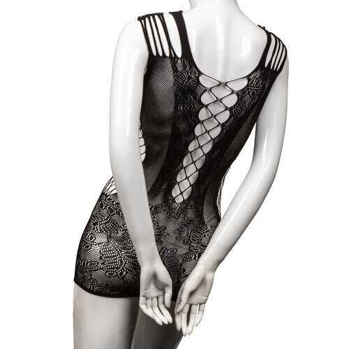 Scandal Plus Size Peek-a-Boo Mini Dress - Plus Size - Black
