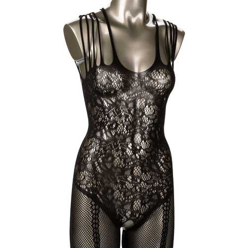 Scandal Plus Size Strappy Lace Body Suit