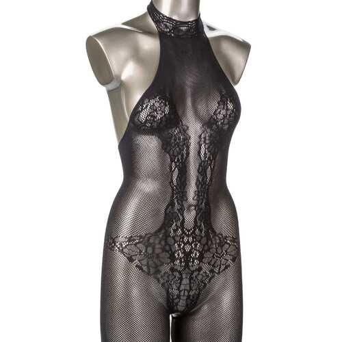 Scandal Plus Size Halter Lace Body Suit