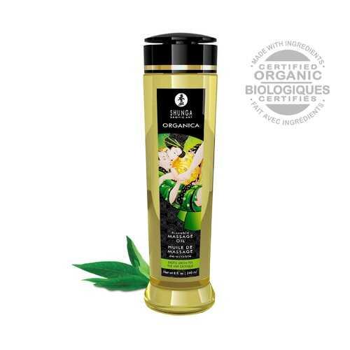 Organica Massage Oils - Green Tea - 8 Fl. Oz.