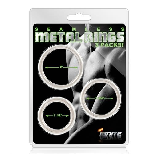 Seamless Metal Rings - 3 Pack